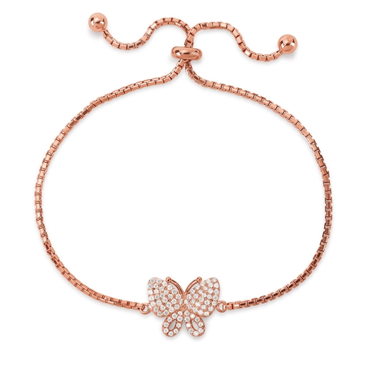 Wonderfly Rose Gold Plated Adjustable Bracelet-