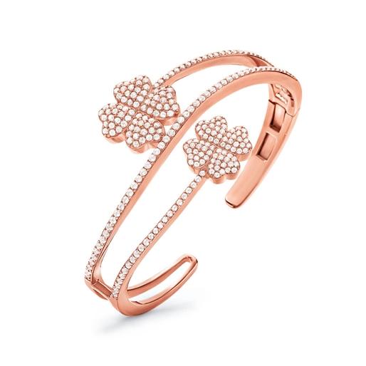 Heart4Heart Rose Gold Plated Σταθερό Βραχιόλι-