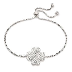 Heart4Heart Silver 925 Ρυθμιζόμενο Βραχιόλι-