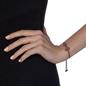 Heart4Heart Black Flash Plated Adjustable Bracelet-