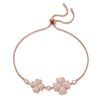 Heart4Heart Rose Gold Plated Adjustable Bracelet