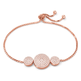 Discus Rose Gold Plated Adjuastable Bracelet-