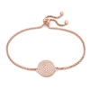 Discus Rose Gold Plated Adjustable Bracelet