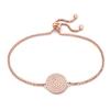 Discus Rose Gold Plated Adjustable Bracelet