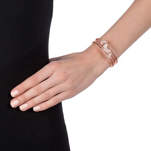 Wonderfly Rose Gold Flash Plated Cuff Bracelet-