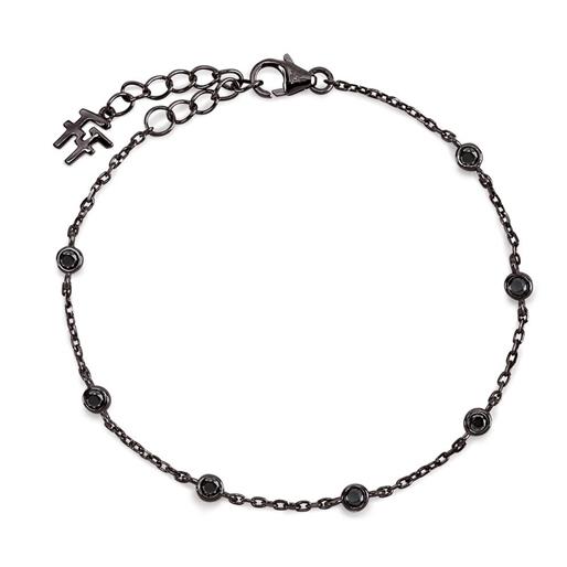 The Essentials Black Flash Plated Bracelet-