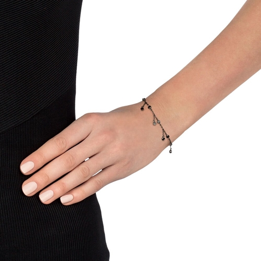 The Essentials Black Flash Plated Bracelet-