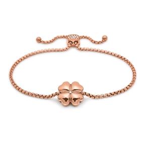 Heart4Heart Rose Gold Plated Adjustable Bracelet-