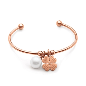 Heart4Heart Sweetheart Flash Rose Gold Plated Σταθερό Βραχιόλι-