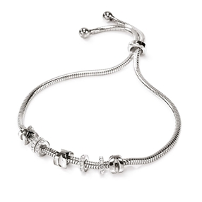 Love Memo Silver Plated Adjustable Bracelet-