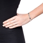 Love Memo Silver Plated Bangle Bracelet-