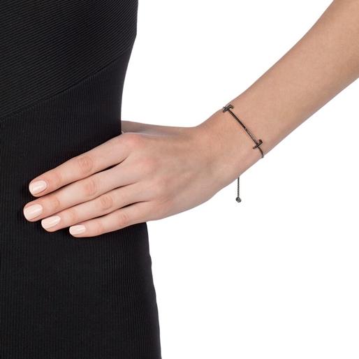 My FF Black Flash Plated Adjustable Bracelet-