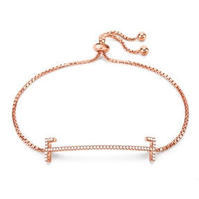 My FF Rose Gold Plated Adjustable Bracelet-