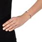 Acro Balance Rhodium Plated Cuff Bracelet -
