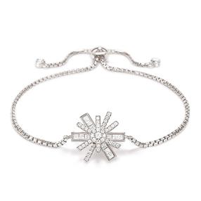 Star Flower Silver 925 Adjustable Bracelet-