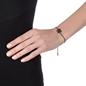 Star Flower Black Flash Plated Adjustable Bracelet -
