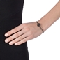 Star Flower Black Flash Plated Cuff Bracelet-