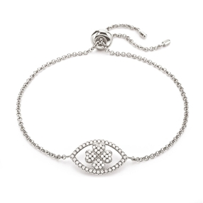 Heart4Heart Mati Silver 925 Ajustable Bracelet-