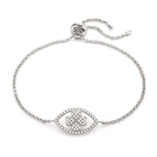Heart4Heart Mati Silver 925 Ajustable Bracelet -
