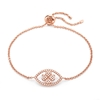 Heart4Heart Mati Rose Gold Plated Adjustable Bracelet