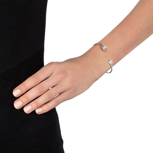 Heart4Heart Mati Silver 925 Cuff Bracelet-