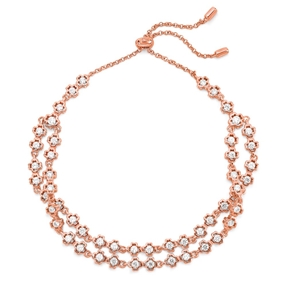 Miss Heart4Heart Silver 925 Rose Gold Plated Ρυθμιζόμενο Βραχιόλι-