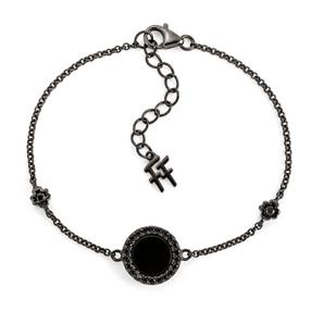 Heart4Heart Mirrors Silver 925 Black Plated Bracelet-