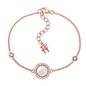 Heart4Heart Mirrors Silver 925 Rose Gold Plated Bracelet -