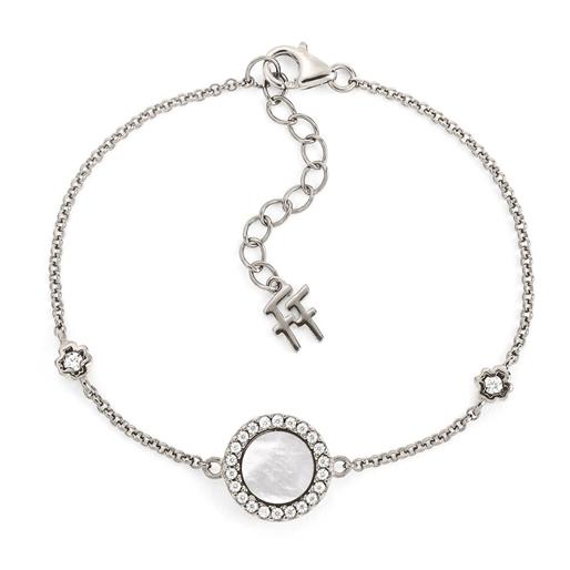 Heart4Heart Mirrors Silver 925 Rhodium Plated Bracelet-