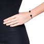 Heart4Heart Mirrors Silver 925 Black Plated Two Sided Cuff Bracelet -