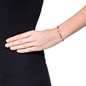 Heart4Heart Mirrors Silver 925 Rose Gold Plated Two Sided Cuff Bracelet -
