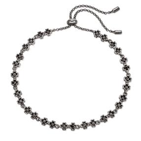 Miss Heart4Heart Silver 925 Black Plated Adjustable Bracelet-