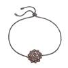 FF Bouquet Silver 925 Black Plated Adjustable Bracelet