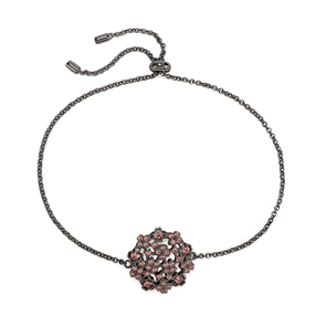 FF Bouquet Silver 925 Black Plated Adjustable Bracelet-