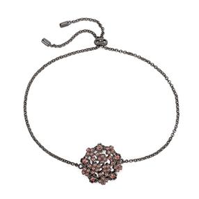 FF Bouquet Silver 925 Black Plated Adjustable Bracelet-