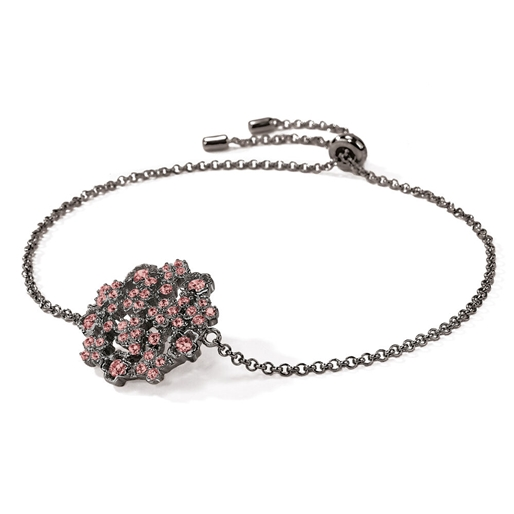 FF Bouquet Silver 925 Black Plated Adjustable Bracelet -