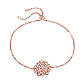 FF Bouquet Silver 925 Rose Gold Plated Ρυθμιζόμενο Βραχιόλι-