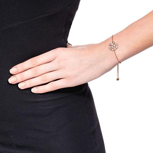FF Bouquet Silver 925 Rose Gold Plated Adjustable Bracelet -