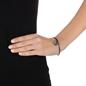 Wonderfly Silver 925 Black Flash Plated Bangle Bracelet-