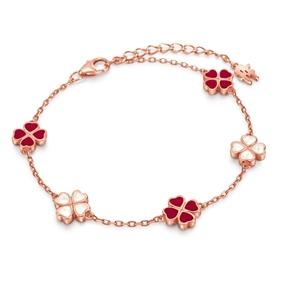 Heart4Heart Chroma Silver 925 Rose Gold Flash Plated Bracelet-