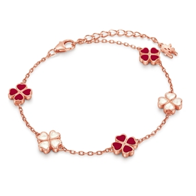 Heart4Heart Chroma Silver 925 Rose Gold Flash Plated Βραχιόλι-