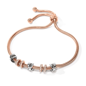 Love Memo Rose Gold Plated Adjustable Bracelet-
