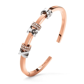 Love Memo Rose Gold Plated Bangle Bracelet-