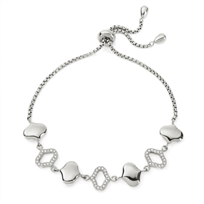 Dream Princess Silver Plated Adjustable Bracelet-