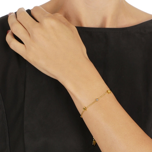 Wishing On Silver 925 18k Yellow Gold Plated Bracelet-