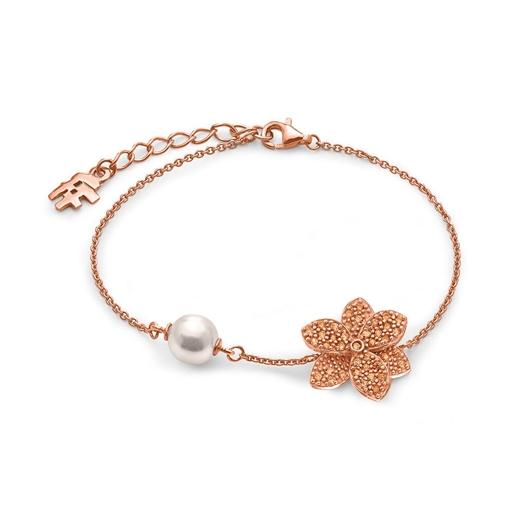 Blooming Grace Silver 925 18k Rose Gold Plated Bracelet-