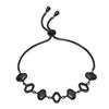 Dream Princess Black Plated Adjustable Bracelet