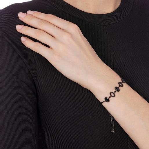 Dream Princess Black Plated Adjustable Bracelet-