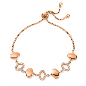 Dream Princess Rose Gold Plated Adjustable Bracelet-