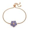 Bloom Bliss Rose Gold Plated Adjustable Bracelet